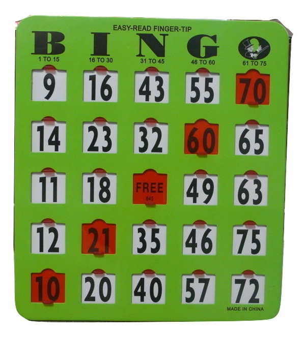 100 Pack Extra Large Number Finger-tip Bingo Cards Extra, Large, Number Finger,tip, Bingo, Cards,