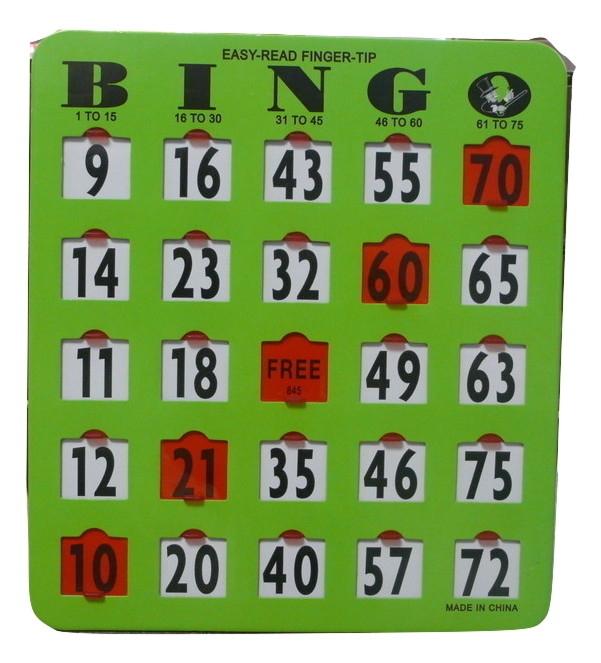 25 Pack Extra Large Number Finger-tip Bingo Cards Extra, Large, Numbe,r Finger,tip, Bingo, Cards,
