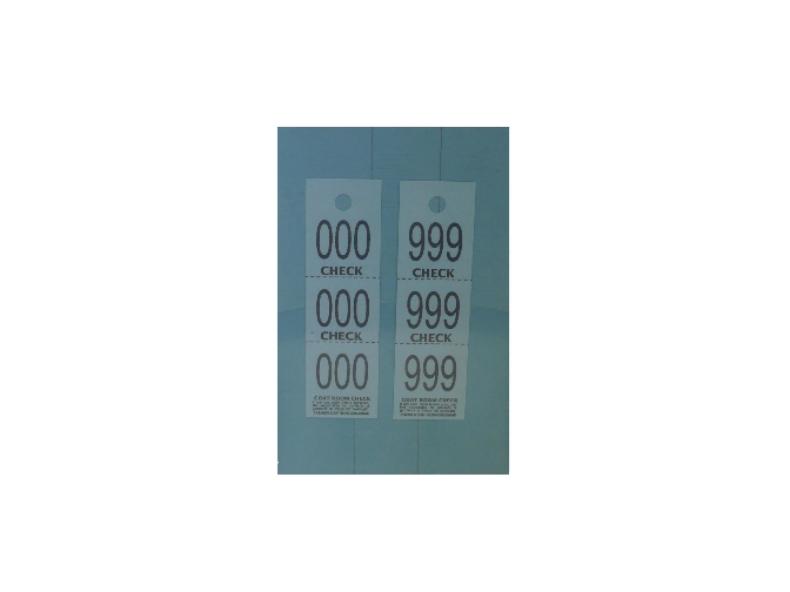 3-Part Coat Check Ticket Raffles, tickets, rolls, 50/50,  Ticket, coat, check, coatcheck