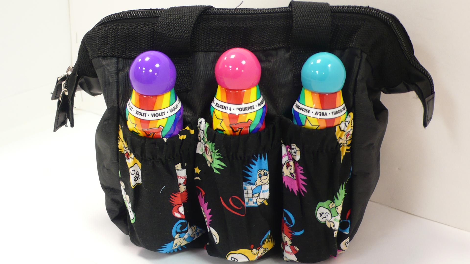 6 Pocket Troll Design Dauber Tote  tote, tote bag, dauber bags, dauber pocket bags