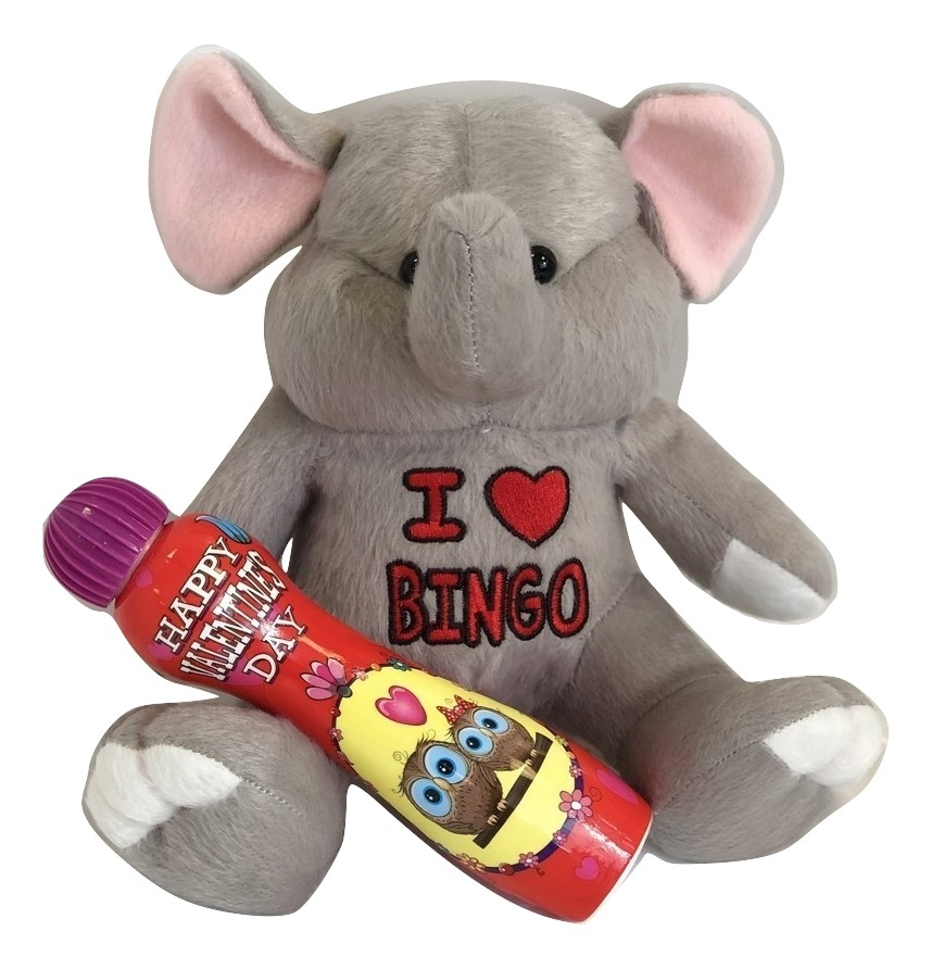 National Bingo Exclusive I Heart Bingo Elephant & Valentines Day Dauber Gift Set