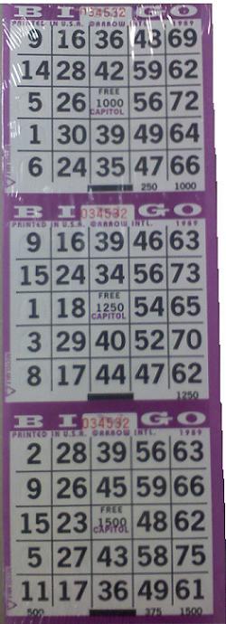 3-On Pushout Bingo Card