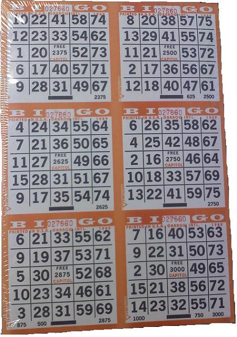 6-On Pushout Bingo Card
