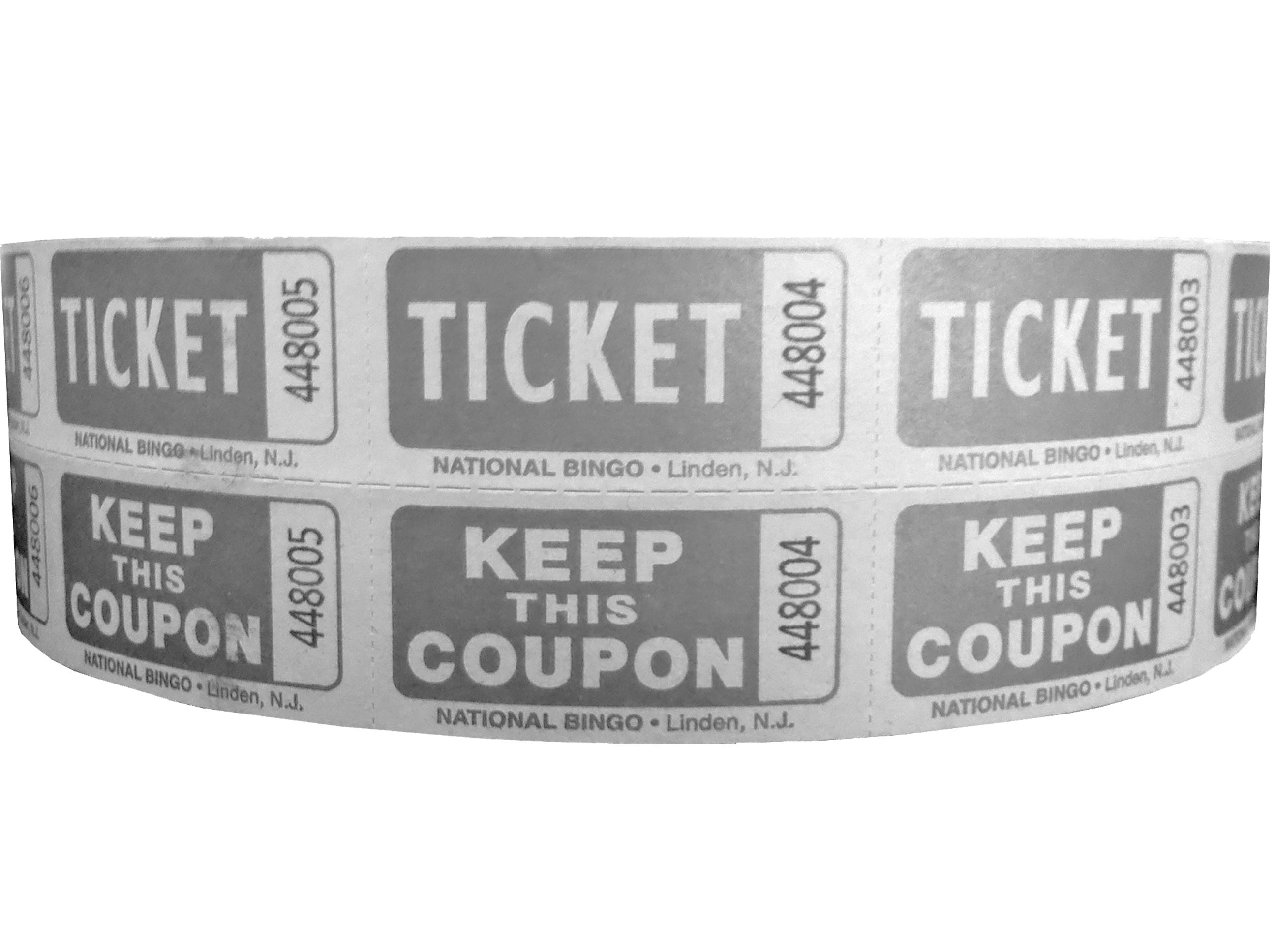 Silver Bristol Double Roll Tickets 2 X 2 Raffles, tickets, rolls, 50/50 tickets, 2 x 2 double roll tickets