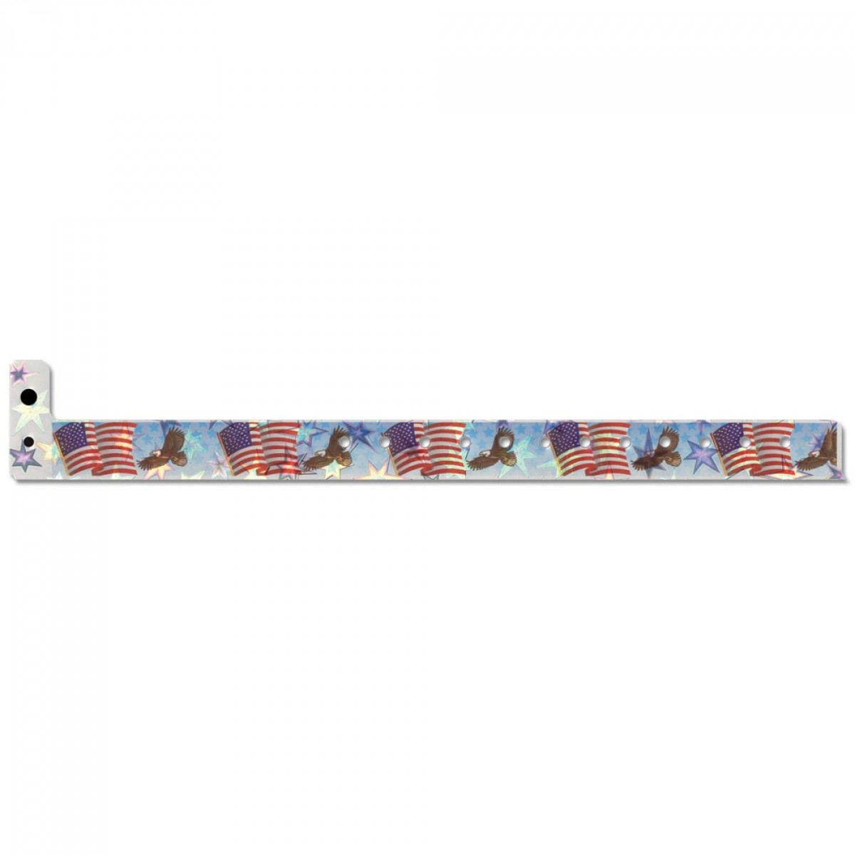 Holographic Plastic American Eagle Wristbands