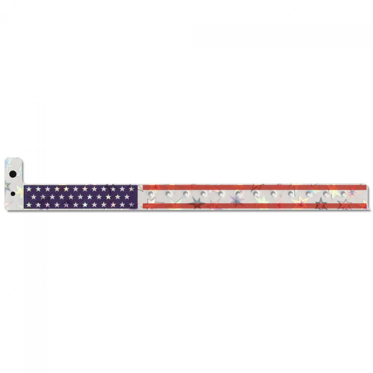 Holographic Plastic Stars & Stripes Wristbands