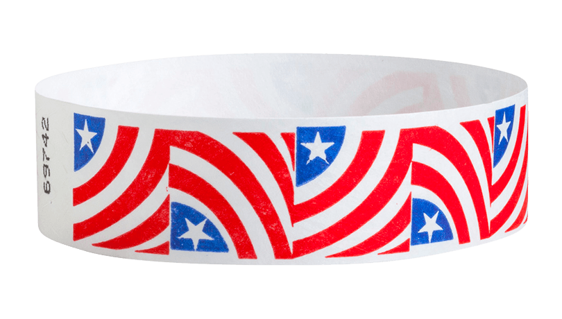 Tyvek Stars and Stripes Wristband
