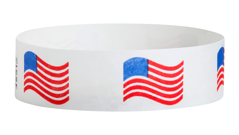 Tyvek Wavy Flag Wristbands
